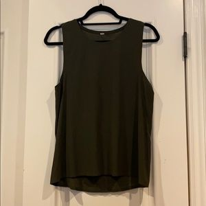 LULULEMON Tank army green rare color
